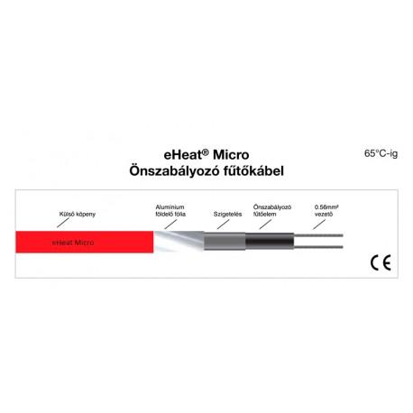 eHeat Micro 17 önszabályzó 230V, 17W/m 5°C-on csőfűtés